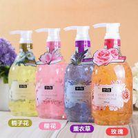 韩国进口樱花花瓣沐浴露持久留香精油香水沐浴液鲜花玫瑰薰衣草