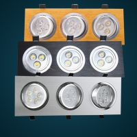 LED射灯三头连体3W5W7W9W12W15W18W天花灯筒灯包邮格栅灯聚光商场