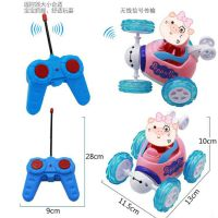 厂家直销卡通特技车玩具360度翻斗车特技车遥控充电儿童玩具批发