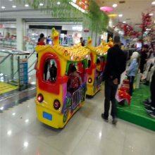 室内商场游乐场儿童代步观览火车游乐设备仿古无轨小火车游乐设施
