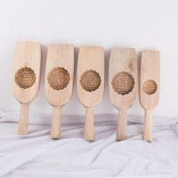 木制月饼模具 月饼印 做50克一150克可选圆花形月印 中秋节月饼印