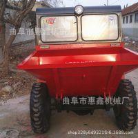 延边爬坡自卸工程车 煤矿运输煤炭的四轮车 塔吉克斯坦用前卸式翻斗车