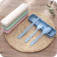1768便携餐具三件套创意韩国旅行儿童勺子筷子叉套装学生礼盒