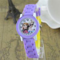 冰雪奇缘男女儿童手表男女孩子卡通表可爱学生胶带指针手表小朋友