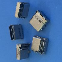 USB3.1 TYPE-C 双包壳母座 24P 双排 贴片贴板L=8.95 板上2.56mm