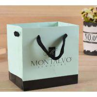 方形底黑彩带特种纸礼品袋手提纸袋包装袋定制印logo