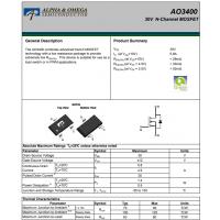 AO3400N沟道MOS管AO3400万代半导体MOS管-AOS美国万代半导体公司代理商泰德兰
