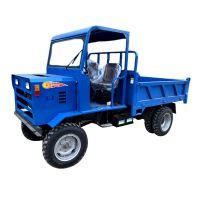 柴油大马力四驱四不像 双顶自卸功能四轮拖拉机 矿用运输车