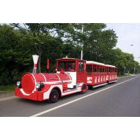 42人座电动观光火车锂电池ALGD42A一拖二游览电动火车