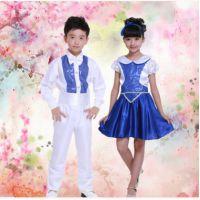 新款儿童合唱服小学生舞蹈演出服装少儿诗歌朗诵表演服饰男女款服