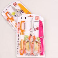 10元厂家批发厨房用品刮刀剪子套装 方便实用A004刮刀3件套装
