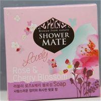 韩国原装正品爱敬香皂 玫瑰樱花精油柔肤香皂 洁面皂 100g(红)