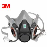 正品3M防毒面具6100防护半面罩小号配滤棉滤盒成防毒防尘面具套装