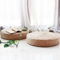 单片简约圆形拜垫客厅禅修通风莆团坐垫蒲草中式夏天座垫女士家用