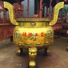 厂家直销寺庙庙宇圆形铸铁香炉,铸铁香炉哪里买?