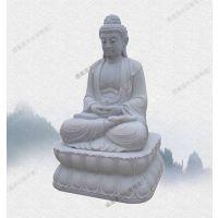 泉州石雕佛像厂家定做性价比高 石材阿弥陀佛加工包安装 寺院西方三圣立式像