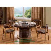 茶餐厅实木餐桌 餐厅餐桌报价 餐厅家具定制 深圳餐桌椅图片