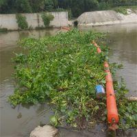 水面上绿萍垃圾拦截浮筒