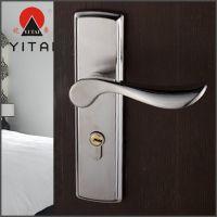 批发供应 不锈钢单双舌门锁 不锈钢机械门锁三件套 艺术包边锁具