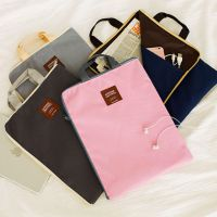 0451韩国多功能多层A4文件袋手提iPad电脑包手机牛津帆布公文包