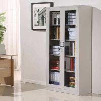 单面背板带门书架定制 文件柜储物柜图书存放架批发 密集架书架厂家