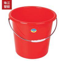 珠江提水桶28升提装带盖水桶塑料桶家用洗澡洗车储水桶厂家