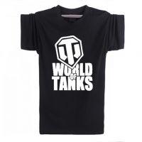 2017夏新款WOT坦克世界纯棉圆领短袖半袖T恤男