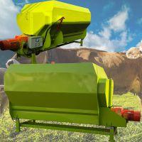 牛犊子混合饲料搅拌机 全混合饲料混料机 中泰机械