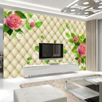 3D立体大型壁画 客厅电视背景墙软包墙纸壁纸田园唯美影视墙