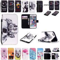 苹果6Splus/4S/5S 5C 卡通骷髅彩绘皮套 Touch5/6创意手机保护套