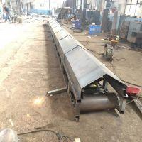 简易手摇升降式皮带输送机 废料废铁料橡胶皮带机 厂家直销中天