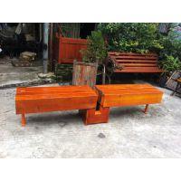 工厂直销 钢木公园椅 实木公园椅 户外木制公园椅