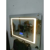 LED带灯浴室镜防雾洗手间镜子无框灯镜壁挂卫浴镜定做