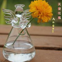 透明天使花瓶水晶玻璃花瓶 插花器皿水培容器 家居装饰品