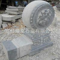 供应青石雕花石头门鼓 石材做旧抱鼓门墩子 厂家直销