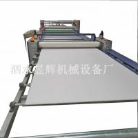 加热复合发泡板贴纸级变频全自动木皮大板贴面机昱辉供应各种板材热转印贴面机