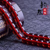 韵然 批发合成血珀桶珠散珠饰品配件 diy手链毛衣链二代蜜蜡配珠