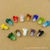 琉璃白菜   DIY手工饰品配件手链挂链圆珠散珠配珠精美小饰品批发