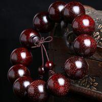 男士气质 2.0印度满金星小叶紫檀手串 佛珠手链檀香木男女情侣饰