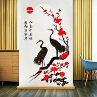 仙鹤水晶亚克力3d立体墙贴画餐客厅卧室墙壁房间背景墙家居装饰品