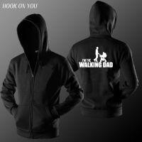 外贸新款电影 The walking dad连帽开衫卫衣潮男女同款