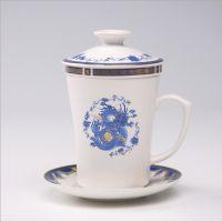 中式简约茶杯 骨瓷礼品杯定制