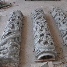 龙柱雕刻 青石石雕龙柱报价