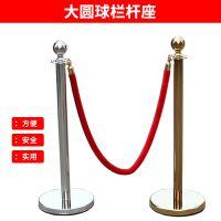 不锈钢栏杆座挂绳一米线安全护栏 警戒线隔离带钛金色迎宾礼宾柱