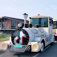 (常州奥联)定制72座旅游景区生态园无轨电泳森林观光火车