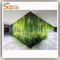 广州仿真绿植墙酒店餐厅客厅仿真植物墙公司气氛布置草墙背景墙可定制pvc