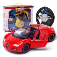儿童方向盘可开门仿真遥控车 二通汽车模型电动玩具车批发