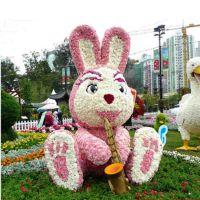 仿真可爱兔绿雕 仿真卡通动物绿雕 城市花园游乐场动物绿雕美陈