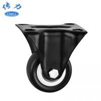 供应【黑金刚脚轮】1.5寸静音定向轮 双轴承轮子 金钻固定脚轮 J01521