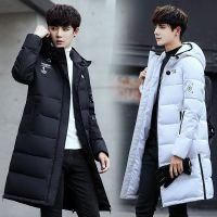 羽绒服男中长款外套男学生韩版黑色秋冬季新款棉100%白鹅绒保暖社会青少年时尚潮流